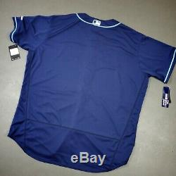 100% Authentic Nike Tampa Bay Rays Player Jersey Size 56 3XL Mens