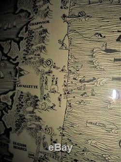 1936 Barnegat Bay Bay Head NJ Illustrated Map Original Harry Tower Cartographer