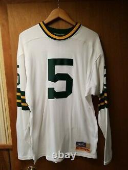 1960 DURENE Paul Hornung Ebbets Field Flannels Green Bay Packers Away Jersey L
