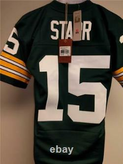 1969 Green Bay Packers #15 Bart Starr Size S Small Mitchell Ness Jersey $150