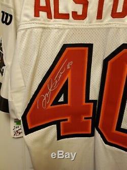 1997 Mike Alstott Tampa Bay Buccaneers Autographed Authentic Wilson Jersey New
