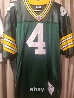 2 Nwot Vtg Brett Favre Green Bay Packers Jerseys Starter Authentic Pro Line Sz48