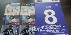 2 TICKETS + PARKING NY Giants vs Green Bay Packers DEC 1 Lower FREE SHIP