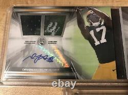 2014 Topps Prime RC Davante Adams Green Bay Packers Auto Patch Jersey # 2/15