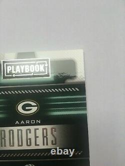 2018 Panini Playbook Aaron Rodgers Green Bay Packers Auto Jersey /25