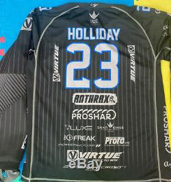 2019 Pro Paintball Jersey Tampa Bay Damage BLACK With Black Pin Stripes