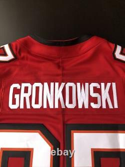 2020 Nike Tampa Bay Buccaneers Gronkowski #87 Red-Stitched-Game Jersey Large