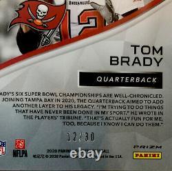 2020 Spectra Tom Brady 12/30 JERSEY NUMBER Card Tampa Bay Buccs