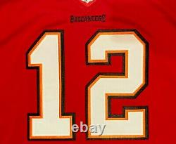2020 Tampa Bay Buccaneers Tom Brady #12 Red Stitched Game Jersey 5XL