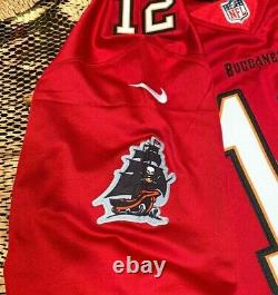2020 Tampa Bay Buccaneers Tom Brady #12 Red Stitched Game Jersey Large
