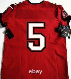 $300-pro-44 No Name # 5 Tampa Bay Buccaneers Sleeve Authentic NFL Nike Jersey