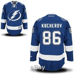 #86 Nikita Kucherov Tampa Bay LIGHTNING RBK NHL Premier Jersey 100% Original
