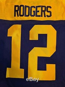 AARON RODGERS #12 GREEN BAY PACKERS Nike Elite THROWBACK Football Jersey 40 NWT