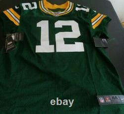 AARON RODGERS Green Bay PACKERS Football Elite NIKE Sewn 913569-323 Jersey 44