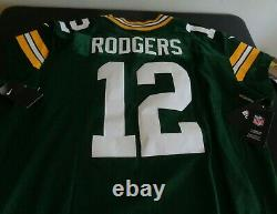 AARON RODGERS Green Bay PACKERS Football Elite NIKE Sewn 913569-323 Jersey 52