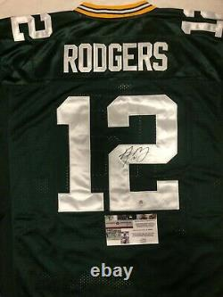 Aaron RODGER Green Bay Packers Autographed Jersey Brand New With Tags, size 50/L