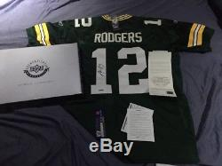 Aaron Rodgers Auto Autograph Upper Deck Uda Green Bay Packers Jersey Box & Coa