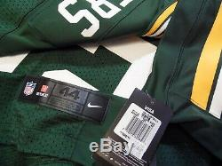 Aaron Rodgers Green Bay Packers Authentic Home Green Nike ELite Jersey Sz 44, 48