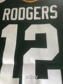 Aaron Rodgers Green Bay Packers Authentic Home Green Nike Jersey Size 44
