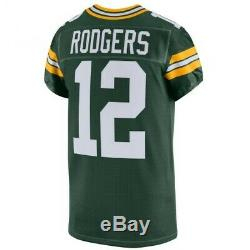 Aaron Rodgers Green Bay Packers Authentic Home Green Nike Jersey Size 48