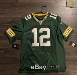 Aaron Rodgers Green Bay Packers NFL Jersey Large NIKE football 100% Authentic