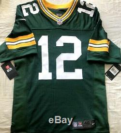 Aaron Rodgers Green Bay Packers authentic Nike ELITE stitched green game jersey
