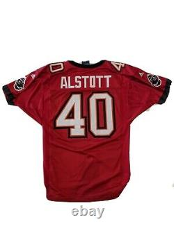 Adidas MIKE ALSTOTT #40 Tampa Bay Buccaneers Authentic Jersey Sz 46. All Sewn