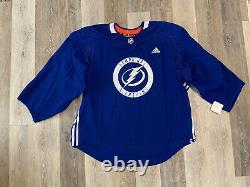 Adidas NHL Tampa Bay Lightning Practice Hockey Jersey Size 60G Goalie Cut Bk