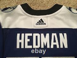 Adidas Size 52 Large Tampa Bay Lightning Reverse Retro Victor Hedman #77 Jersey