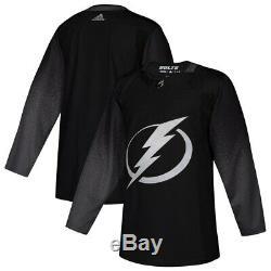 Adidas Tampa Bay Lightning Black Alternate Authentic Jersey Men's Sizes M-XL
