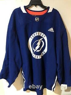 Adidas Tampa Bay Lightning NHL Practice Jersey Size 58G Goalie Cut