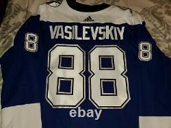 Andrei Vasilevskiy Tampa Bay Lightning Reverse Retro Authentic Jersey Size 56