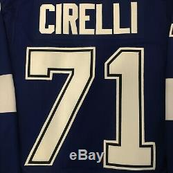 Anthony Cirelli Tampa Bay Lightning Home Blue Adidas Hockey Jersey Size 50 NWT