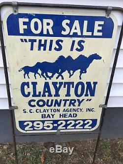 Antique Horse Real Estate Advertising Metal Sign Bay Head New Jersey Handpainted