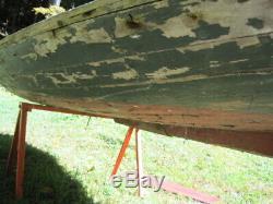 Antique cedar wood Duck Hunting boat JH Perrine Builder Barnegat Bay NJ rustic