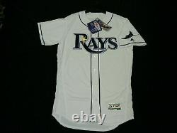 Authentic 44 Large Tampa Bay Rays Majestic Flex Base Jersey Made In The USA