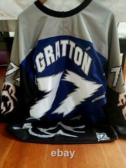 Authentic MDF Tampa Bay lightning style Chris Gratton Kitted Jersey sz XL