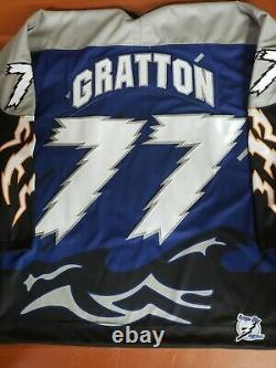 Authentic MDF Tampa Bay lightning style Chris Gratton Kitted Jersey sz XXL