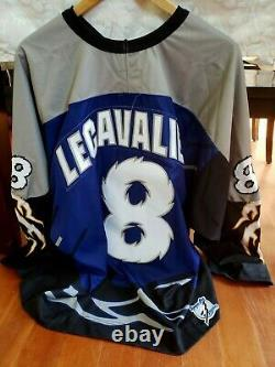 Authentic MDF Tampa Bay lightning style Vincent Lecavalier Kitted Jersey sz XXL