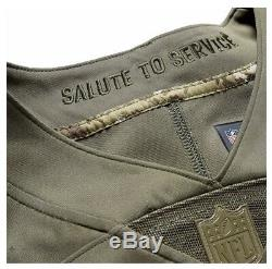 Authentic Nike Aaron Rodgers Mens Green Bay Packers Salute to Service Jersey 2XL