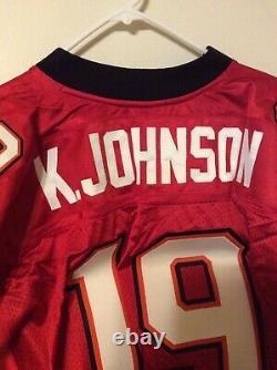Authentic Reebok Keyshawn Johnson Tampa Bay Bucs Jersey Size 54