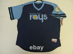 Authentic Tampa Bay Devil Rays 1970s Throwback TBC COOL BASE Jersey 56 RARE