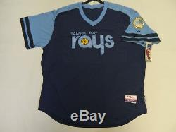 Authentic Tampa Bay Devil Rays 1970s Throwback TBC COOL BASE Jersey 60 RARE
