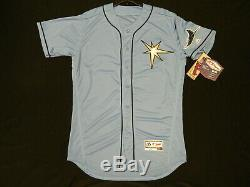 Authentic Tampa Bay Rays 2019 Limited Edition LIGHT BLUE Flex Base Jersey 50