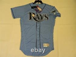 Authentic Tampa Bay Rays Alternate LIGHT BLUE Flex Base Jersey 42