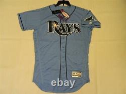 Authentic Tampa Bay Rays Alternate LIGHT BLUE Flex Base Jersey 44