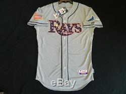 Authentic Tampa Bay Rays July 4th Stars & Stripes Cool Base Jersey 48