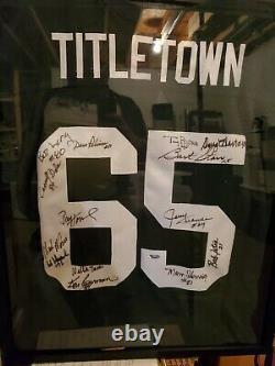 Autograph Green Bay Packers Bart Starr Paul Hornung TitleTown Jersey Certified