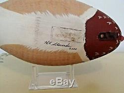 Barnegat Bay rig mate pair of Wood Duck decoys by Harry V. Shourds Tuckerton NJ