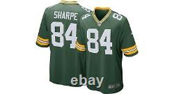 Brand New 2020 NFL Nike Green Bay Packers Sterling Sharpe 84 Game Edition Jersey